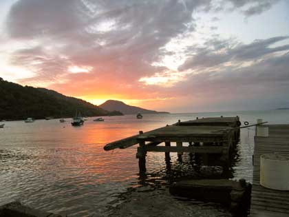 Sunset at Angra - photo by Baltar