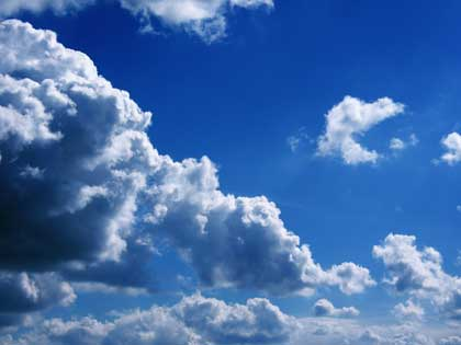 clouds against blue sky - photo by Benny201