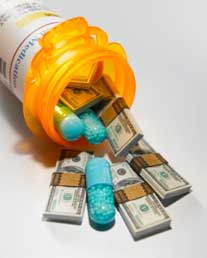 pills and money sm Medication Rapidly Replacing Psychotherapy Due to Insurance Reimbursement
