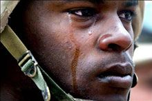 soldier crying sm Study Shows Very High Rate of PTSD Among Veterans