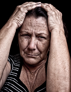 Senior Woman with Anxiety